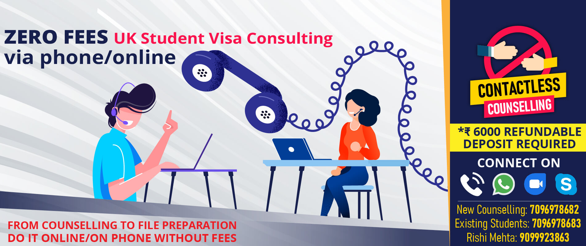 Contactless Counselling COVID19 Visa Consultancy in Vadodara Edge International